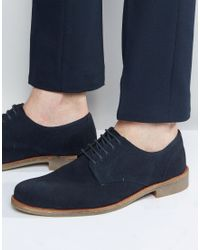 Lambretta - Brogues Shoes In Navy Suede - Lyst