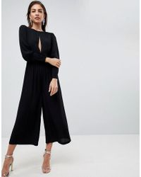 ASOS - Asos 40's Tea Jumpsuit With Sleeve Detail - Lyst