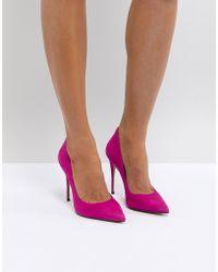 ALDO - Suede Pink Pointed Shoe - Lyst