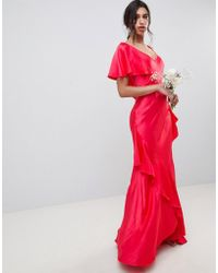 Ghost - Bridesmaid Maxi Dress With Shoulder Detail - Lyst