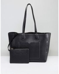 Warehouse - Stitch Detail Shopper Bag - Lyst