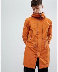 Pretty Green - Snorkel Parka Jacket In Orange - Lyst