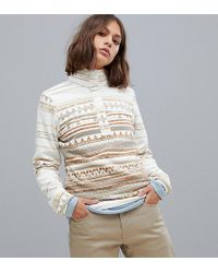 Columbia - Mountain Side Printed Pull Over Fleece In Stone - Lyst