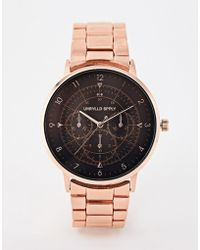 ASOS - Interchangeable Watch Gift Set With Bracelet In Brushed Rose Gold Tone - Lyst