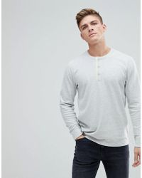 Abercrombie & Fitch | Waffle Henley Long Sleeve Top In Off White | Lyst