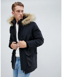 New Look - Traditional Parka Jacket In Black - Lyst