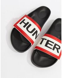 HUNTER - Original Adjustable Logo Slide Sandals - Lyst