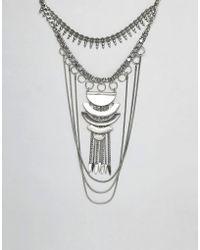 ASOS - Design Statement Festival Bib Necklace - Lyst