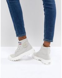 Palladium - Pampa Gray Hi Rive Gauche Flat Ankle Boots - Lyst