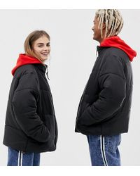 Collusion - Unisex Puffer Jacket In Black - Lyst