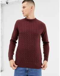 New Look - Jumper With Sadle Sleeve In Burgundy - Lyst