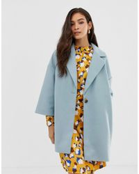 Vila - Oversized Tailored Coat - Lyst