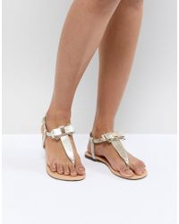 Oasis - Bow Sandals - Lyst