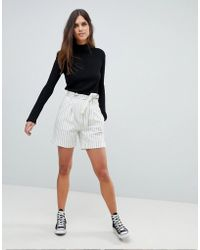 Y.A.S - Striped High Waisted Shorts Co-ord - Lyst
