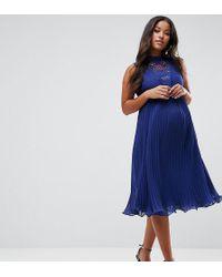 ASOS - Sleeveless Lace Insert Dress - Lyst