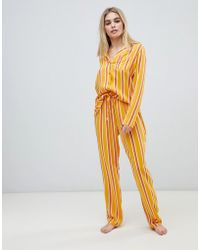 ASOS - Mix & Match Varied Stripe Pant In 100% Woven Modal - Lyst