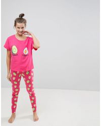ASOS - Avocado And Egg Power Couple Tee & Legging Pyjama Set - Lyst