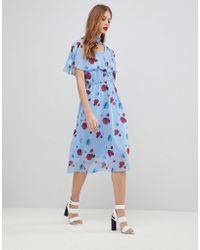 Y.A.S - Poppy Print Woven Dress - Lyst