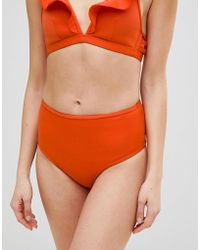 Playful Promises - Ruffle Frill Triangle Bikini Top - Lyst