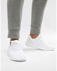 Pull&Bear - Knitted Trainer In White - Lyst