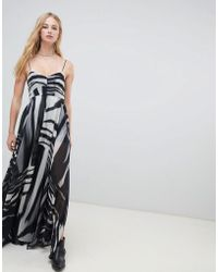 68268f71794 Religion - Cami Maxi Dress In Zebra Print - Lyst