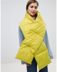 Weekday - Puffer Scarf In Yellow - Lyst