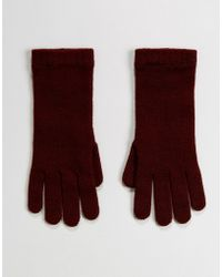 Johnstons - Of Elgin 100% Cashmere Gloves In Berry - Lyst