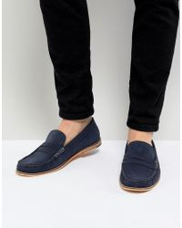 Frank Wright - Loafers In Blue Suede - Lyst