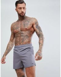 10e3ee3d9a Nike - Nike Volley Super Short Swim Short In Grey Ness8509-071 - Lyst