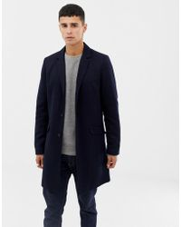 Only & Sons - Jersey Overcoat - Lyst