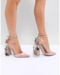 ASOS - Passionate Embellished High Heels - Lyst