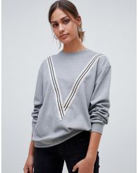 Minimum - Moves By Sporty Stripe Sweatshirt - Lyst