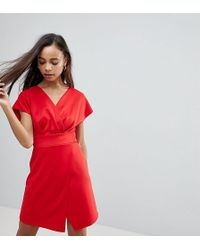 ASOS - Mini Cross Front Origami Dress - Lyst