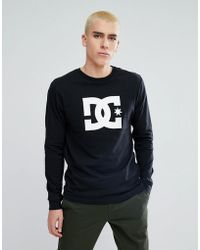 DC Shoes - Long Sleeve T-shirt With Star Logo In Black - Lyst
