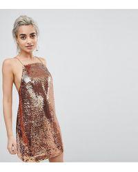 ASOS - Embellished Sequin Cami Mini Dress - Lyst