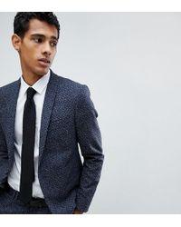 Noak - Skinny Suit Jacket In Polka Dot Fleck - Lyst