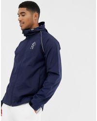 9851f31af970 ASOS. Gym King Cortavientos con capucha en azul marino