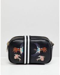 Liquorish - Bird Embroidered Camera Bag With Webbing Strap - Lyst