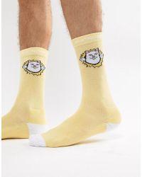 RIPNDIP - Ripndip Nermamaniac Socks In Yellow - Lyst