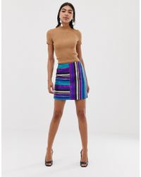 a906222d7 TOPSHOP rainbow Sequin Spike Mini Skirt By Jaded London - Lyst