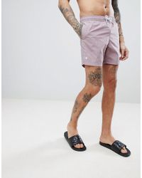 Pretty Green - Logo Swim Shorts In Pink - Lyst