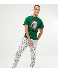 New Look - Christmas Pyjama Set With Humpug Print In Green - Lyst