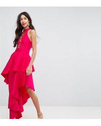 ASOS - Sexy Lace Up Tiered Maxi Dress - Lyst