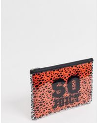 Juicy Couture - Zoey Large Pouch With Removable Bag In Black And Orange - Lyst