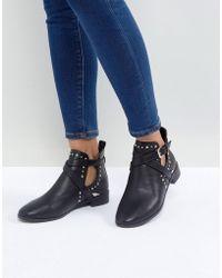 Miss Kg - Seb Studded Flat Boots - Lyst