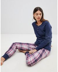 Esprit - Check Pyjama Set - Lyst