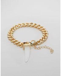 Ashiana - Shiana Chain Bracelet With Crystal - Lyst