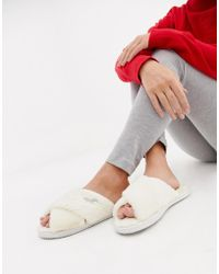 Hollister - Faux Fur Supersoft Slippers - Lyst