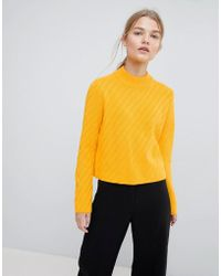 SELECTED - Knitted High Neck Jumper - Lyst