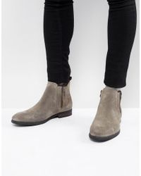 Call It Spring - Ocade Suede Zip Boots In Taupe - Lyst